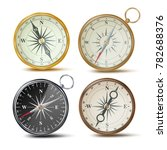 compass set vector. different... | Shutterstock .eps vector #782688376