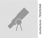 telescope vector icon eps 10. | Shutterstock .eps vector #782696368