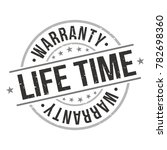 life time warranty stamp circle ... | Shutterstock .eps vector #782698360