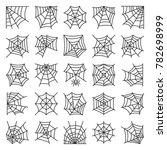 spider web thin line icon set.... | Shutterstock . vector #782698999