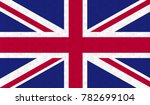united kingdom flag. vector... | Shutterstock .eps vector #782699104