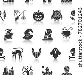 halloween seamless pattern.... | Shutterstock . vector #782701243
