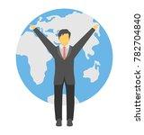 global businessman vector icon  | Shutterstock .eps vector #782704840