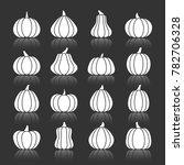 halloween pumpkin white... | Shutterstock . vector #782706328