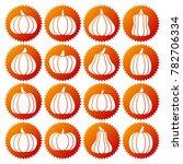 pumpkin white silhouette icon... | Shutterstock . vector #782706334