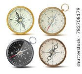 compass set. different colored... | Shutterstock . vector #782708179