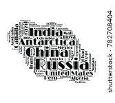 100 biggest countries word... | Shutterstock .eps vector #782708404