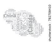 100 biggest countries word... | Shutterstock .eps vector #782708410