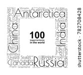 100 biggest countries word... | Shutterstock .eps vector #782708428