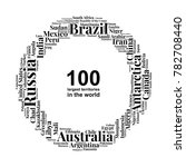 100 biggest countries word... | Shutterstock .eps vector #782708440