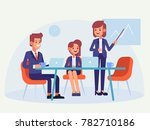 meeting business people.... | Shutterstock .eps vector #782710186