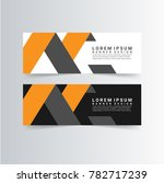modern banner with orange and... | Shutterstock .eps vector #782717239