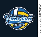 volley ball logo with text... | Shutterstock .eps vector #782720860