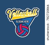 volley ball logo with text... | Shutterstock .eps vector #782720866