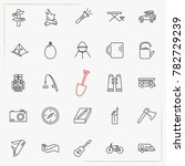 camping line icons set | Shutterstock .eps vector #782729239