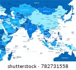 southern asia map   detailed... | Shutterstock .eps vector #782731558