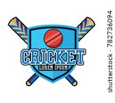 cricket logo with text space... | Shutterstock .eps vector #782736094