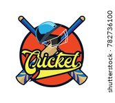 cricket logo with text space... | Shutterstock .eps vector #782736100
