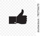 silhouette like thumb up icon... | Shutterstock .eps vector #782736670