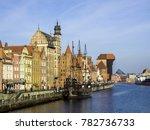 old ship and port gdansk ... | Shutterstock . vector #782736733
