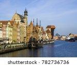 old ship and port gdansk ... | Shutterstock . vector #782736736
