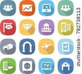 flat vector icon set   group... | Shutterstock .eps vector #782738113