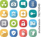 flat vector icon set   nuclear... | Shutterstock .eps vector #782743540