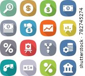 flat vector icon set   dollar... | Shutterstock .eps vector #782745274