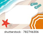 children photo frame with beach ... | Shutterstock .eps vector #782746306
