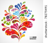 splash of floral and ornamental ... | Shutterstock .eps vector #78275491