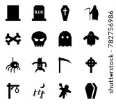 origami style icon set   grave... | Shutterstock .eps vector #782756986