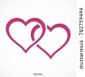 two hearts   vector icon  | Shutterstock .eps vector #782759494