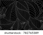 leaves background pattern. ... | Shutterstock .eps vector #782765389