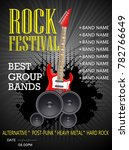 rock festival banner design... | Shutterstock .eps vector #782766649