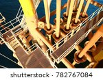 offshore construction platform... | Shutterstock . vector #782767084