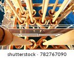 offshore construction platform... | Shutterstock . vector #782767090