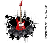 notes off of the guitar  guitar ... | Shutterstock .eps vector #782767834