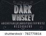 vintage font alphabet... | Shutterstock .eps vector #782770816