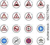 line vector icon set   turn... | Shutterstock .eps vector #782774290