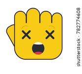 hand fist illustration. dizzy... | Shutterstock .eps vector #782774608