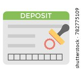 deposit vector icon  | Shutterstock .eps vector #782775109