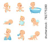 happy smiling baby. cute... | Shutterstock . vector #782775280