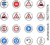 line vector icon set   road... | Shutterstock .eps vector #782775574