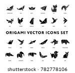 origami folded paper animals... | Shutterstock .eps vector #782778106