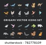 origami folded paper animals...   Shutterstock .eps vector #782778109