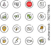 line vector icon set  ... | Shutterstock .eps vector #782778646