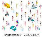 isometry of pregnant girls in... | Shutterstock .eps vector #782781274