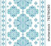 beautiful blue and green floral ... | Shutterstock .eps vector #782784280
