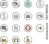 line vector icon set   identity ... | Shutterstock .eps vector #782788420
