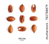 seamless pattern with pecan.... | Shutterstock . vector #782788879